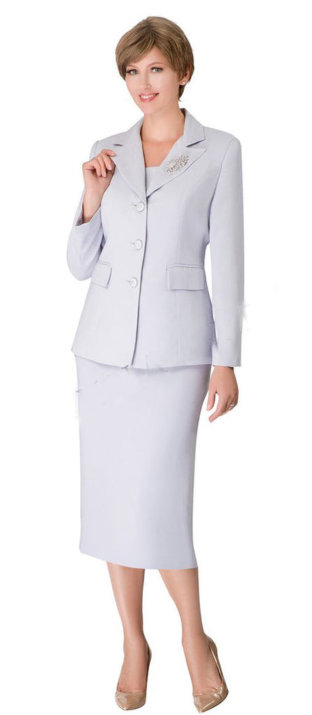 Giovanna Usher Suit 0655-Silver - Church Suits For Less