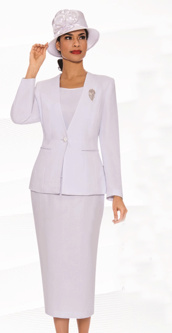 Giovanna Usher Suit 0825-White - Church Suits For Less