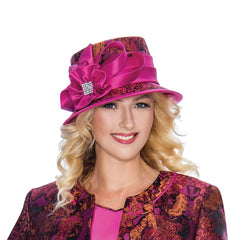 Giovanna Church Hat G1062-Fuchsuia - Church Suits For Less