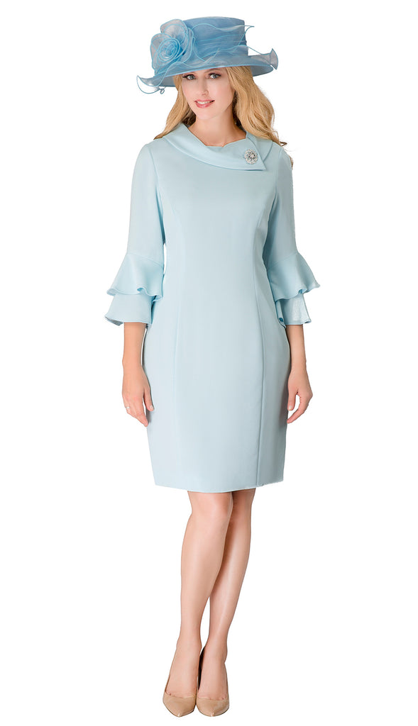 Giovanna Dress D1518-Blue - Church Suits For Less