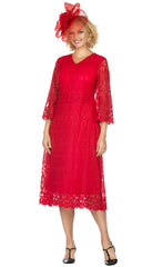 Giovanna Dress D1520-Red - Church Suits For Less