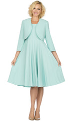 Giovanna Dress D1540-Mint - Church Suits For Less