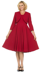 Giovanna Dress D1540-Red - Church Suits For Less