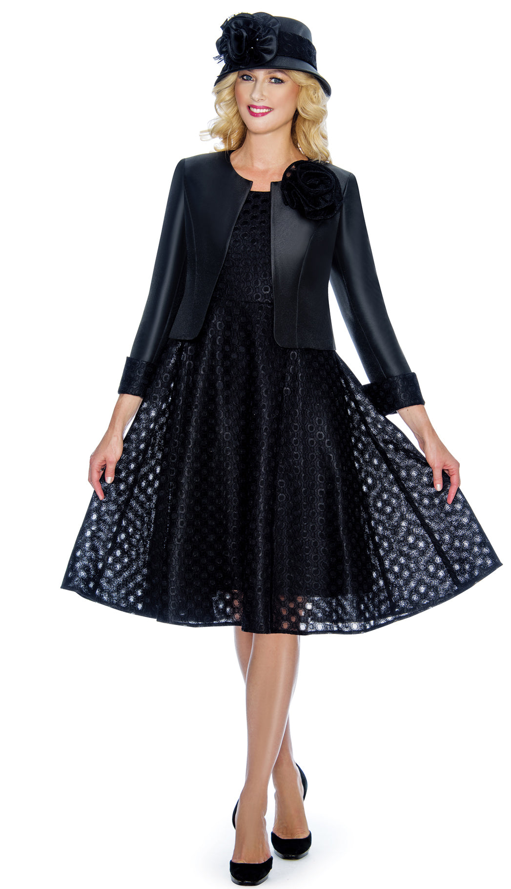 Giovanna Dress G1081-Black - Church Suits For Less