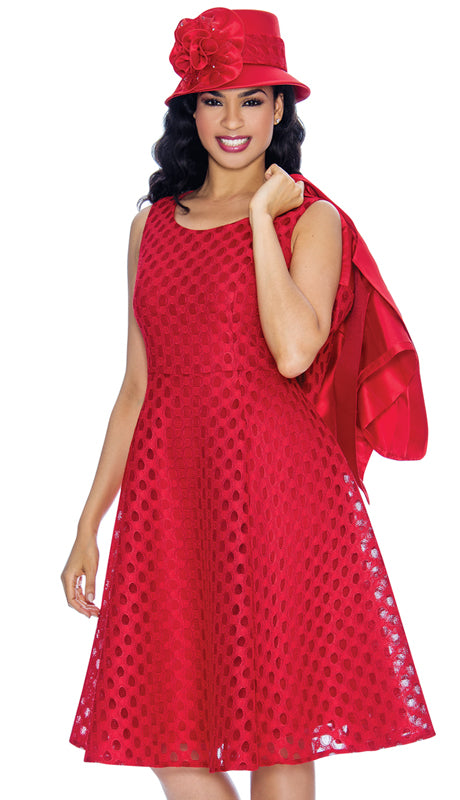 Giovanna Dress G1081-Red - Church Suits For Less