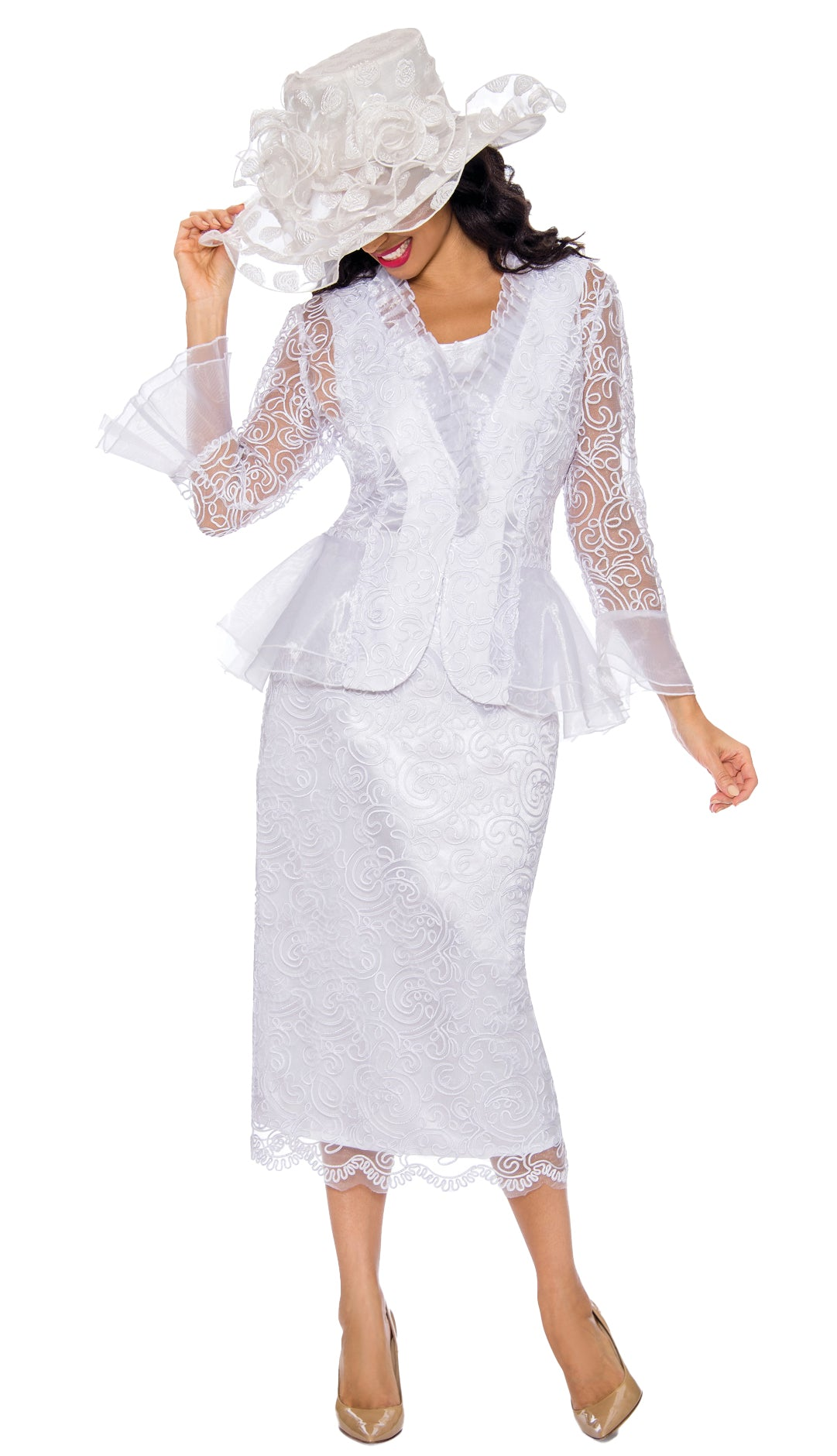 Giovanna Suit 0929-White - Church Suits For Less