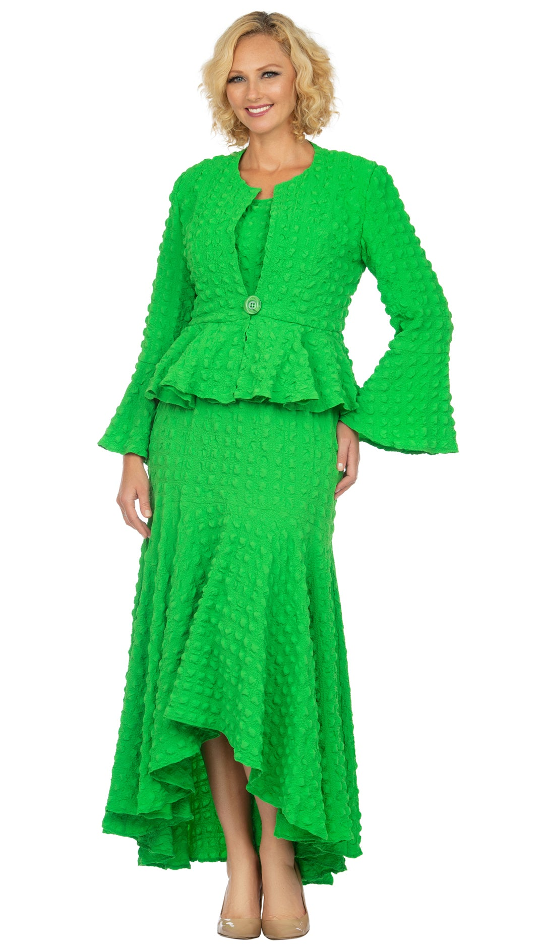Giovanna Suit 0943-Apple Green - Church Suits For Less