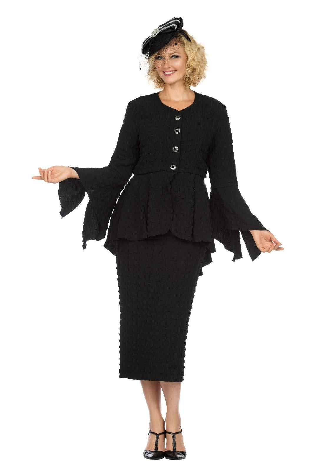 Giovanna Suit 0944-Black - Church Suits For Less