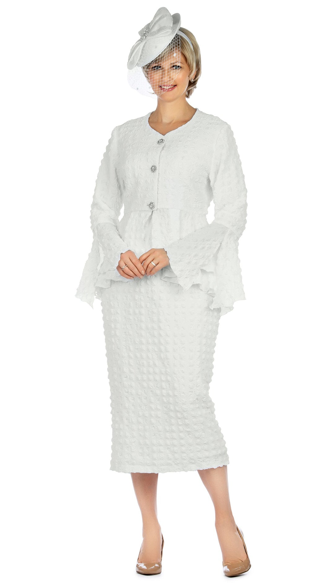 Giovanna Suit 0944-White - Church Suits For Less