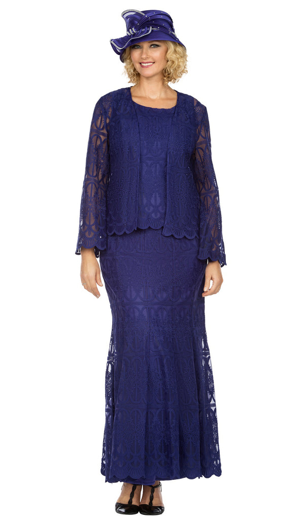 Giovanna Suit 0946-Purple - Church Suits For Less