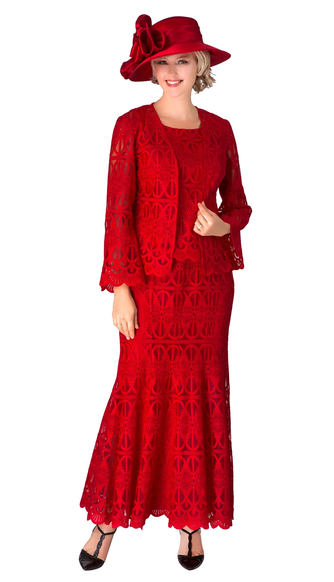 Giovanna Suit 0946-Red - Church Suits For Less