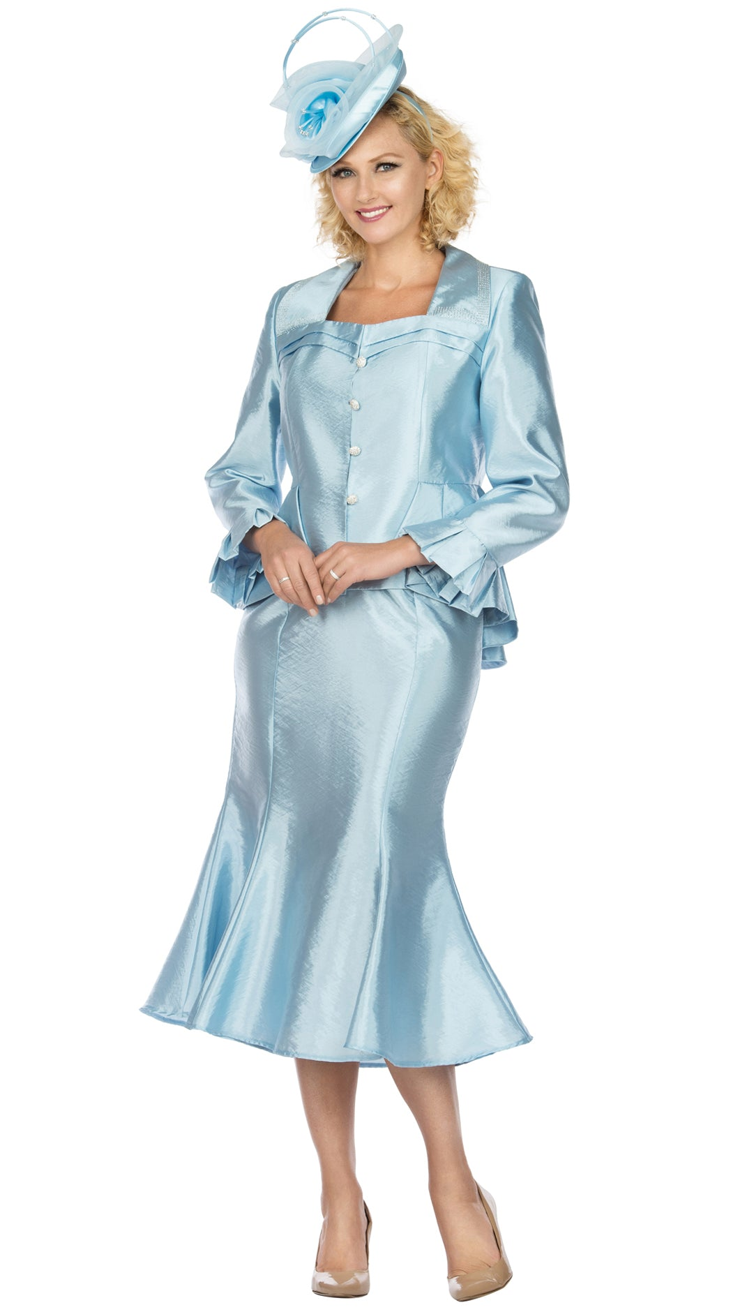 Giovanna Suit G1122-Ice Blue - Church Suits For Less
