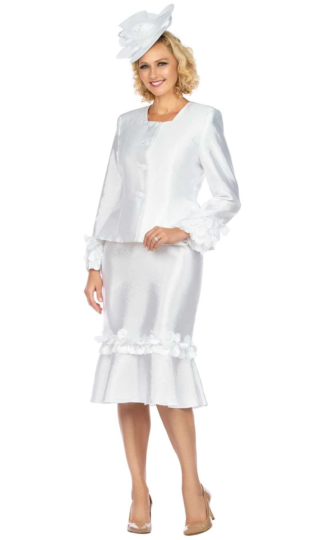 Giovanna Suit G1140-White - Church Suits For Less