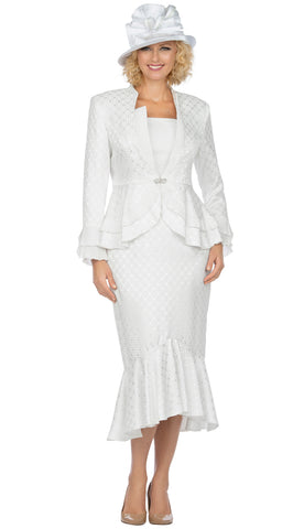 Giovanna Suit G1142-White - Church Suits For Less
