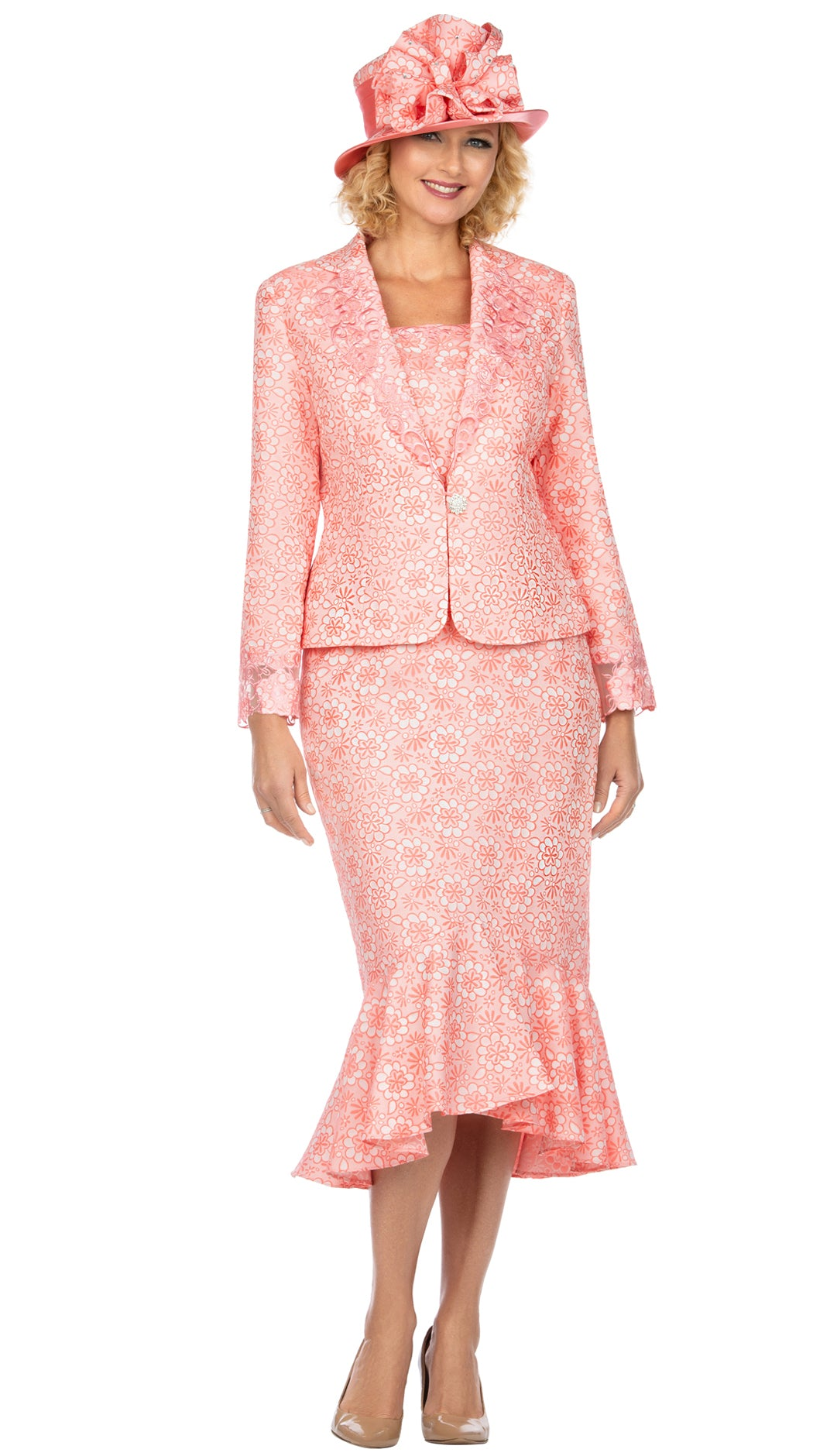 Giovanna Suit G1143-Coral - Church Suits For Less