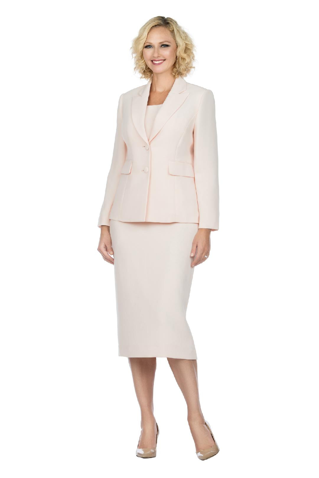 Giovanna Usher Suit S0710-Pale Pink - Church Suits For Less