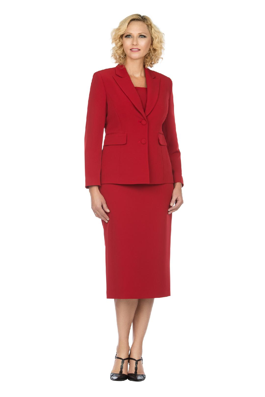 Giovanna Usher Suit S0710-Red - Church Suits For Less