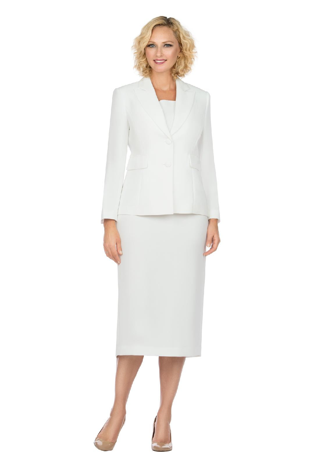 Giovanna Usher Suit S0710-White - Church Suits For Less