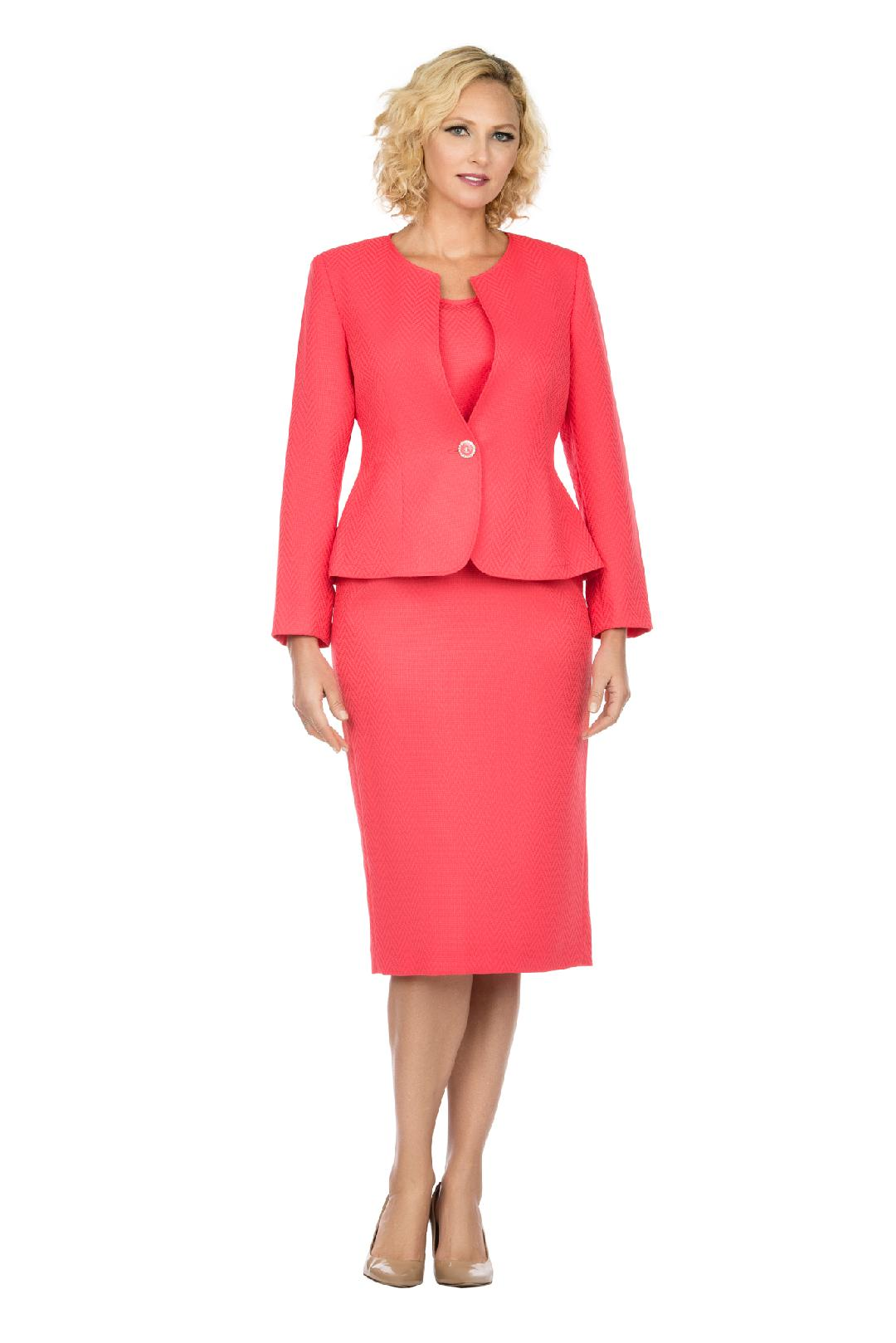 Giovanna Suit S0713-Coral - Church Suits For Less