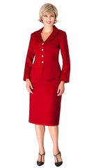 Giovanna Usher Suit S0720C-Red - Church Suits For Less