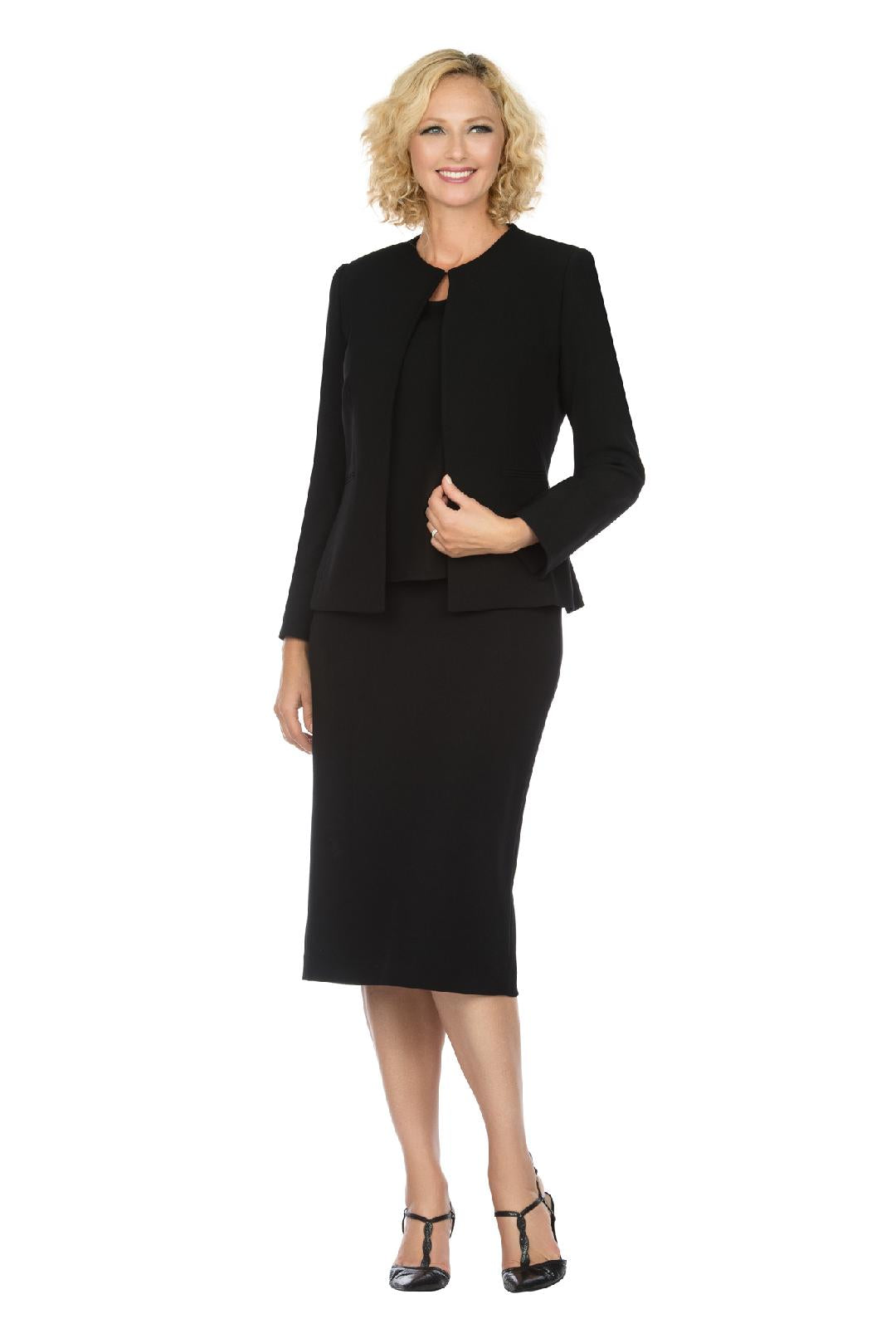 Giovanna Usher Suit S0721-Black - Church Suits For Less
