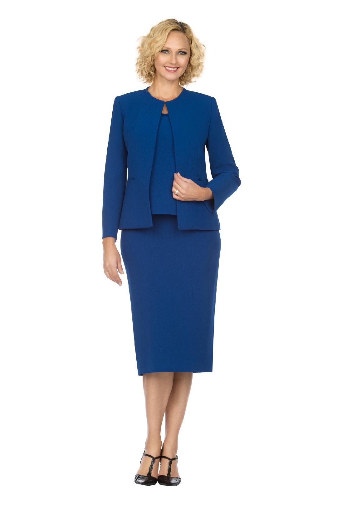 Giovanna Usher Suit S0721-Royal - Church Suits For Less