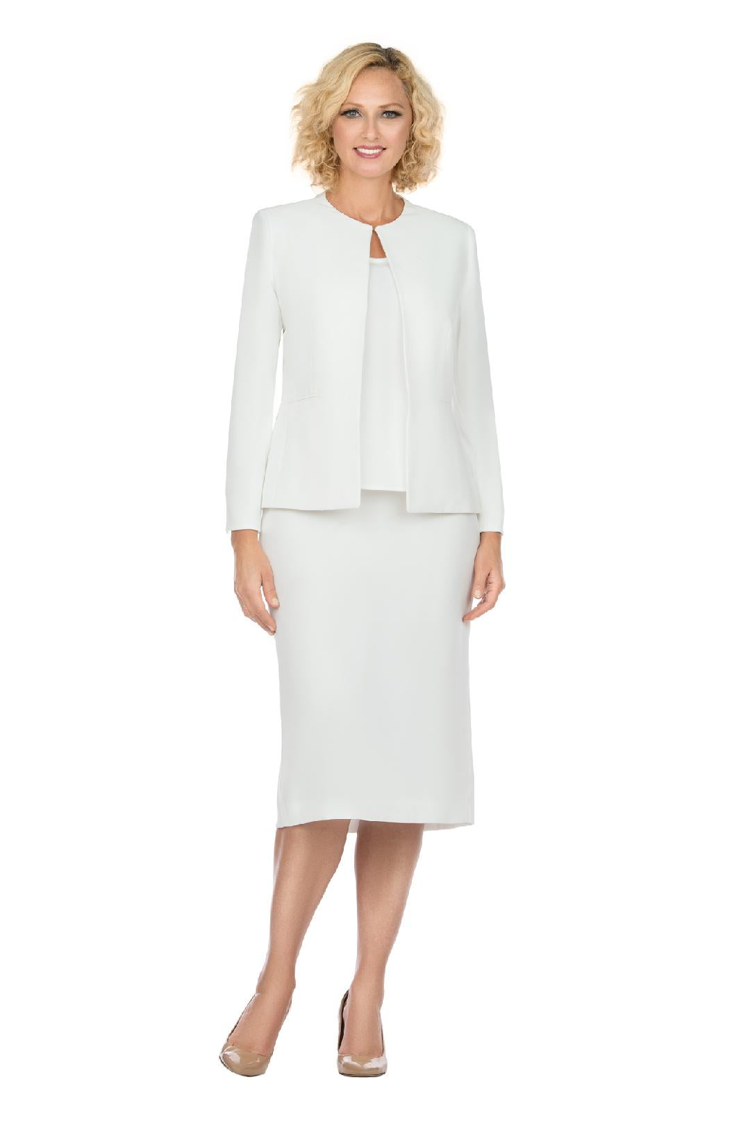 Giovanna Usher Suit S0721-White - Church Suits For Less