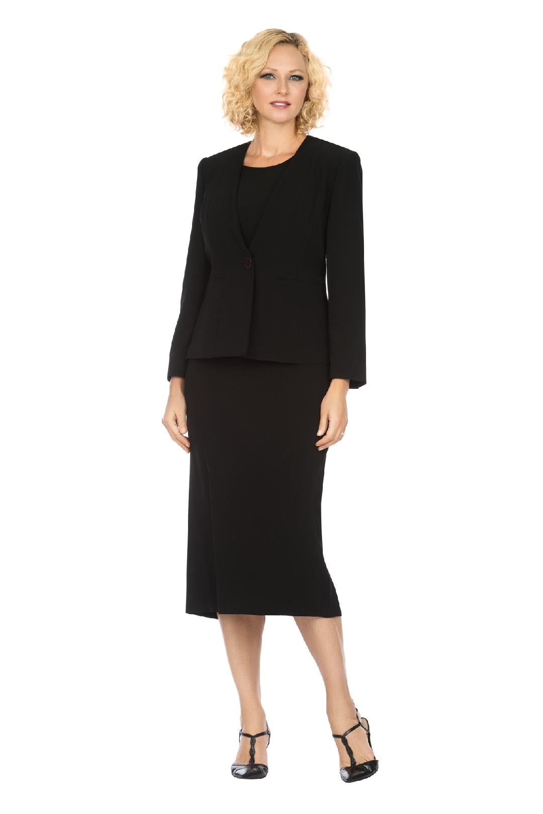 Giovanna Usher Suit S0722-Black - Church Suits For Less