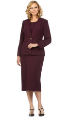 Giovanna Usher Suit S0722-Plum - Church Suits For Less