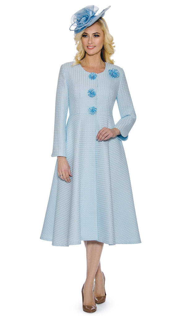 Giovanna Dress 0915-Blue - Church Suits For Less