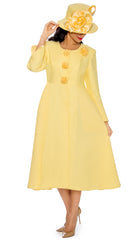 Giovanna Dress 0915-Yellow - Church Suits For Less