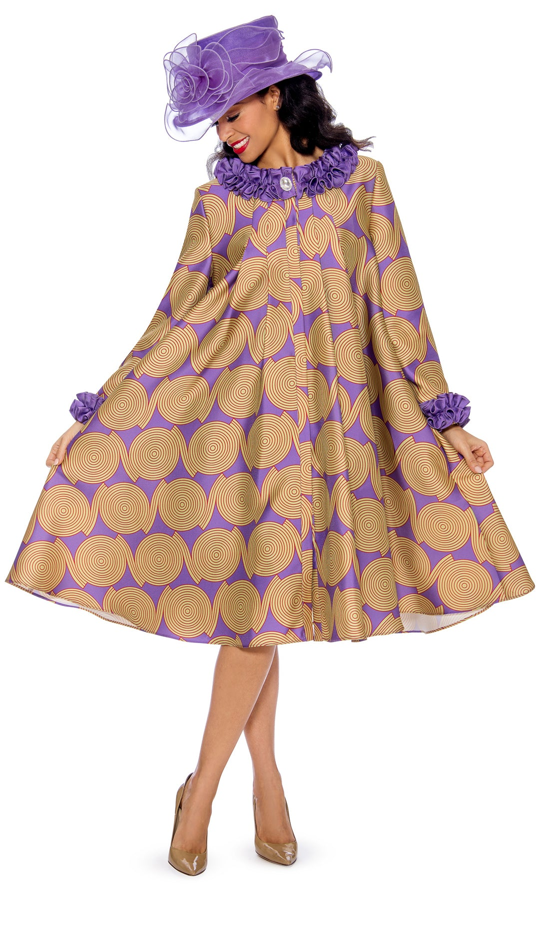 Giovanna Dresss 0927-Violet - Church Suits For Less