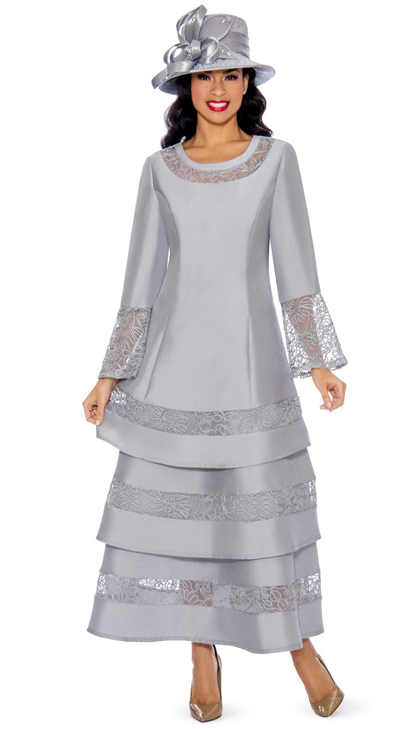 Giovanna Dress D1346-Silver - Church Suits For Less