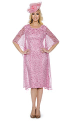 Giovanna Dress D1352-Pink - Church Suits For Less