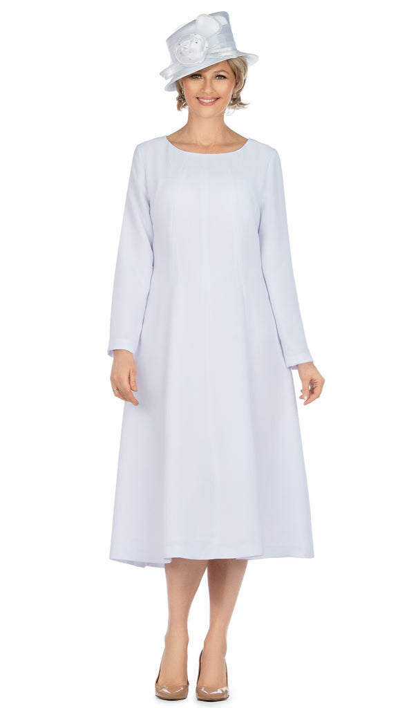 Giovanna Dress D1451-White - Church Suits For Less