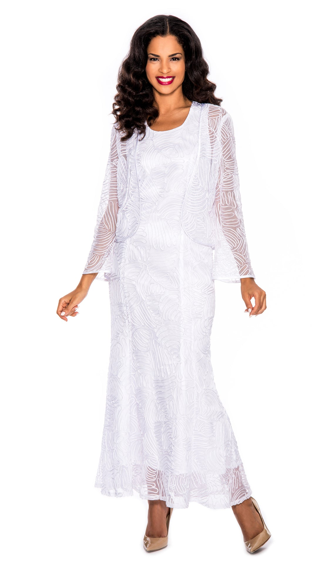 Giovanna Dresss D1455-White - Church Suits For Less