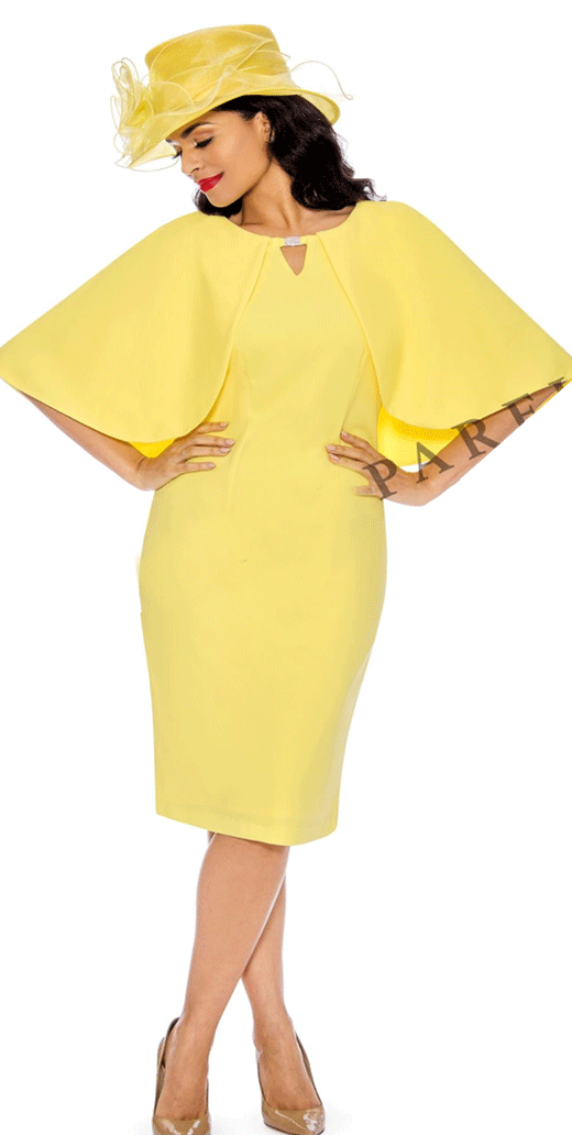 Giovanna  Dress D1482-Yellow - Church Suits For Less