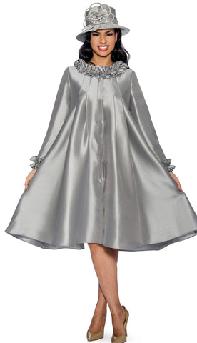 Giovanna Dress D1493-Silver - Church Suits For Less