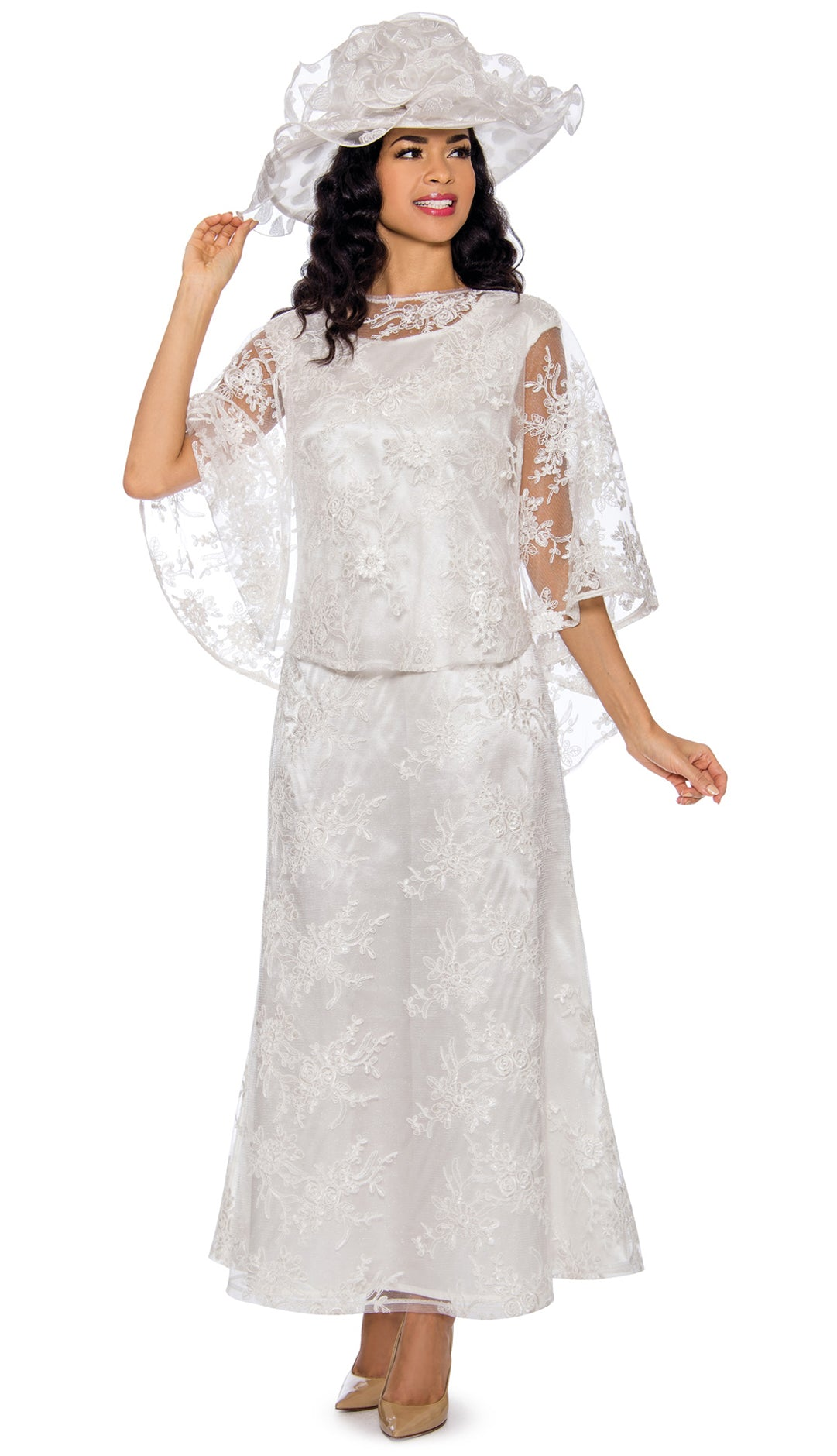 Giovanna Dresss D1510-White - Church Suits For Less