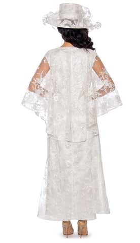 Giovanna Dress D1510-White - Church Suits For Less