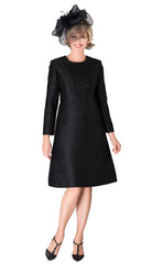 Giovanna Dress D1521-Black - Church Suits For Less