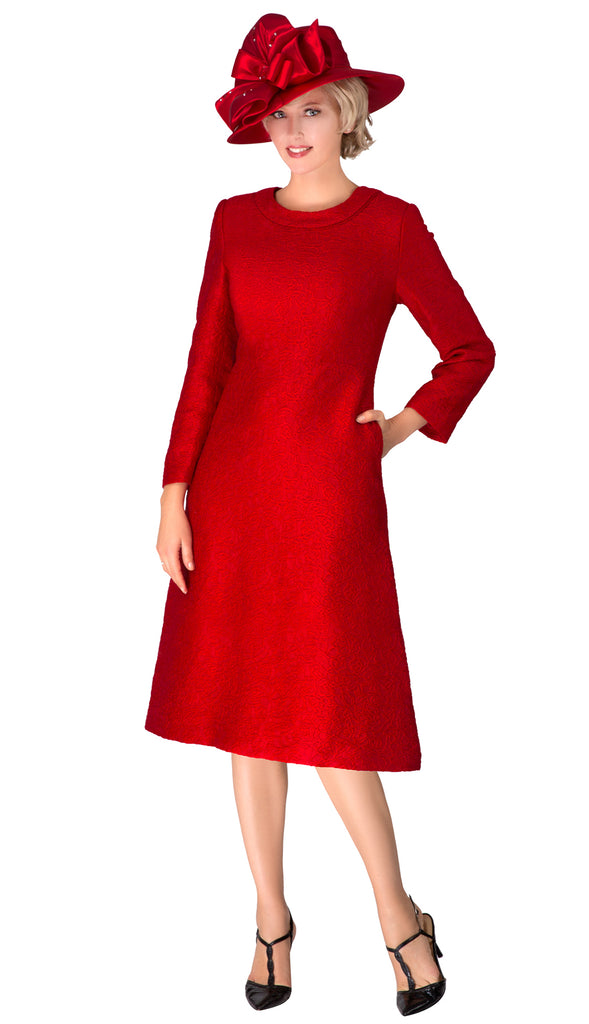 Giovanna Dress D1521-Red - Church Suits For Less