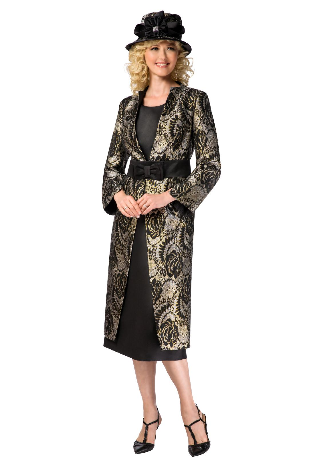 Giovanna Suit G1102-Black/Gold - Church Suits For Less