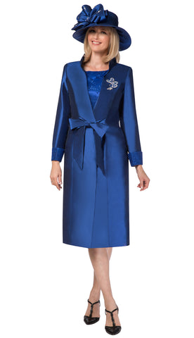 Giovanna Dress G1117-Sapphire - Church Suits For Less