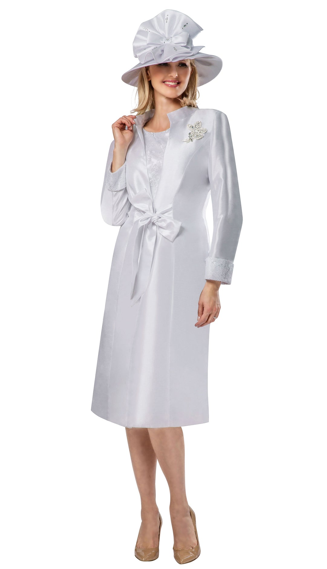Giovanna Dress G1117-White - Church Suits For Less