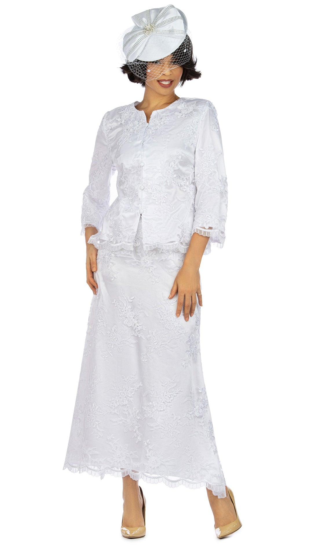 Giovanna Suit 0947C-White - Church Suits For Less
