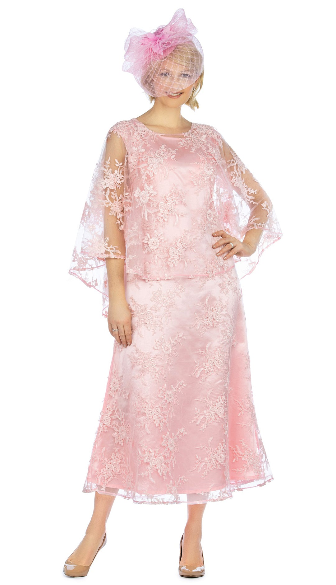 Giovanna Dress D1510-Pink - Church Suits For Less