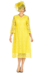 Giovanna Dress D1520-Yellow - Church Suits For Less