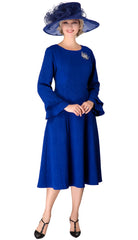 Giovanna Dress D1523-Royal - Church Suits For Less