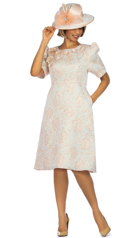 Giovanna Dress D1524-Pink - Church Suits For Less